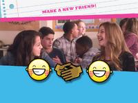 New friend emoticon
