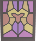 Stained glass (Zamorak) built