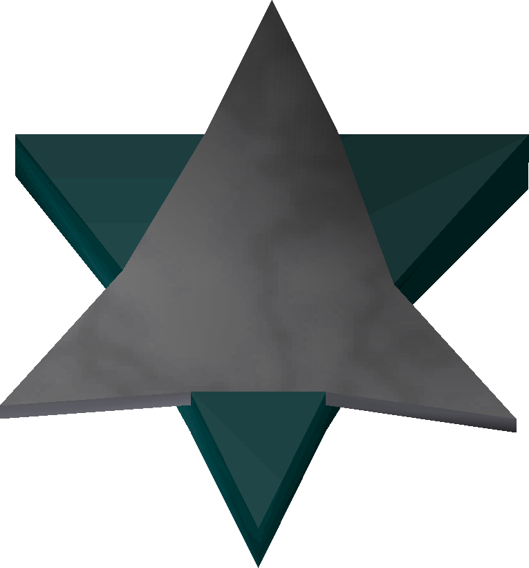 Star amulet detail