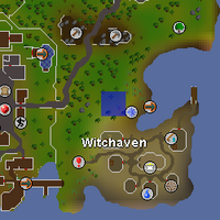 Hot cold clue - near Witchaven map