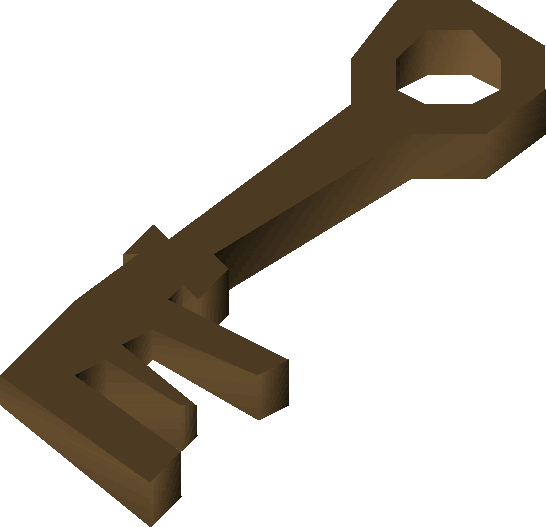 Bronze key (Prince Ali Rescue) detail