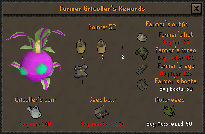 Farmer Gricoller's Rewards