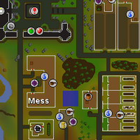 Hot cold clue - east of Mess hall map