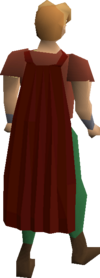 Fremennik red cloak equipped