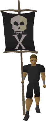 Treasure flag equipped