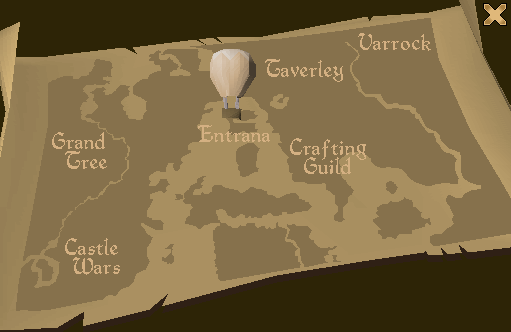 Balloon transport system map