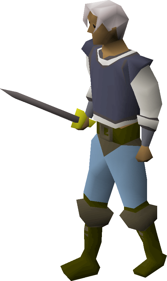 Steel longsword equipped