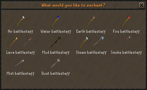 Battlestaff enchanting