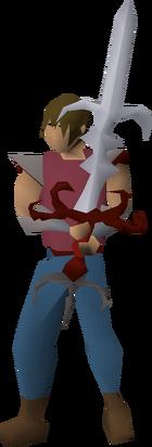 Zamorak godsword (or) equipped
