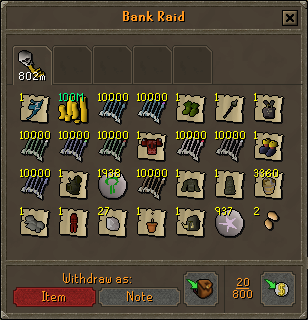 Deadman mode - Bank Raid interface