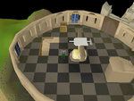 Emote clue - think centre observatory