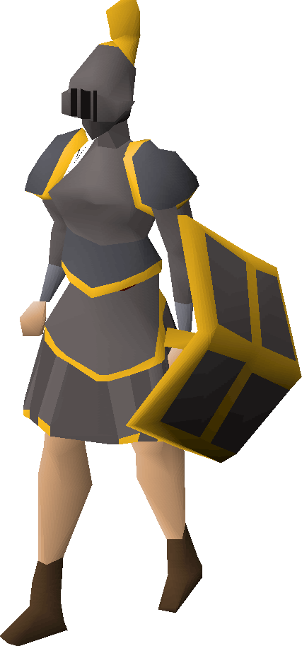 Iron gold-trimmed set (sk) equipped