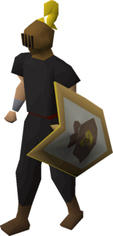 Heraldic helm (Money) equipped
