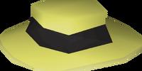 Black boater