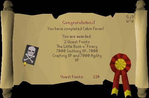 Cabin Fever reward scroll