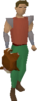 Red chinchompa equipped