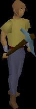 Broken pickaxe (rune) equipped