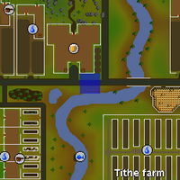 Hot cold clue - south of the Golden Field map