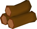 Redwood pyre logs detail
