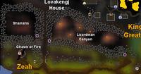 Lizardman Canyon map