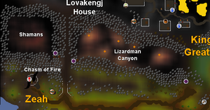 Lizardman Canyon map