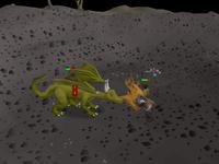 Cryptic clue - kill green dragon