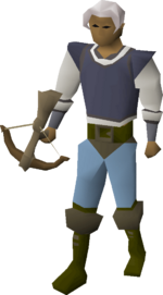Bronze crossbow equipped