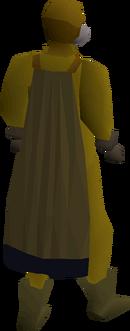 Mourner cloak equipped