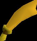 Gilded scimitar detail
