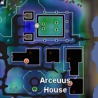 Hot cold clue - Arceuus church map