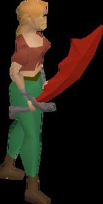 Dragon scimitar equipped