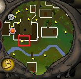 Monkey Madness hut door location