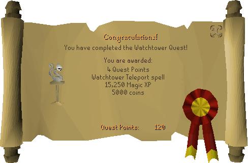 Watchtower reward scroll