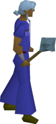 Rune mace equipped