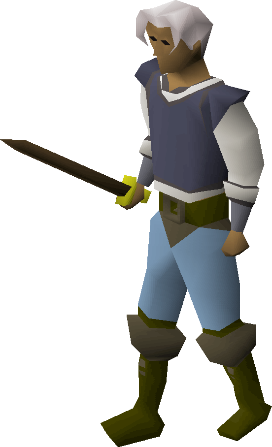 Bronze longsword equipped