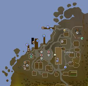 Rellekka map