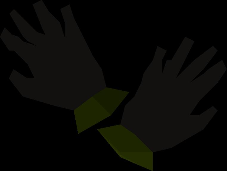 Black gloves detail