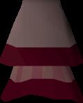 Red elegant skirt detail