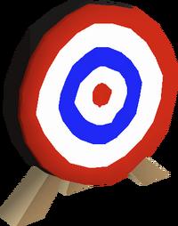 Archery target built