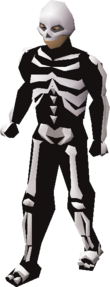 Skeleton outfit equipped