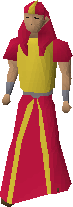 Red menaphite robes equipped