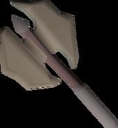 Dwarven battleaxe (rusty) detail