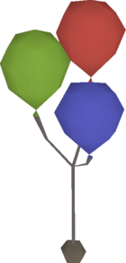 Birthday balloons detail