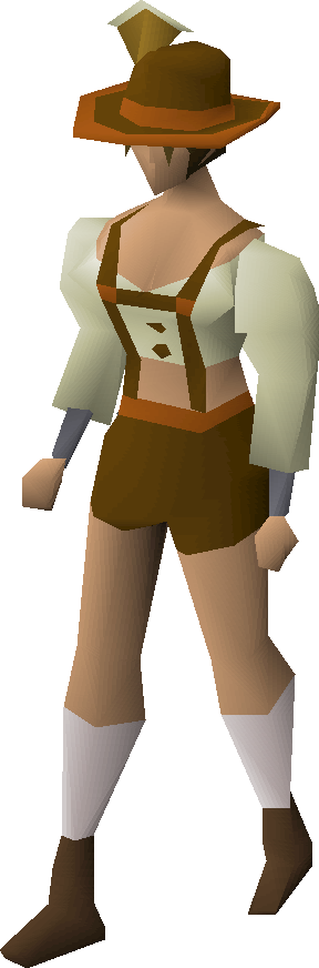 Lederhosen set equipped (female)