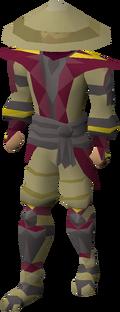 Samurai armour equipped