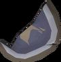 Broken shield (right) detail