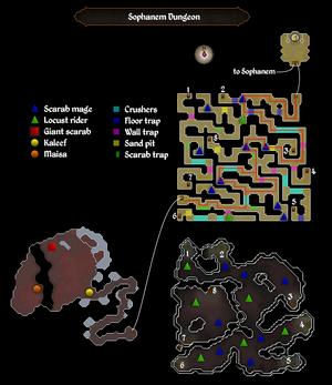 Sophanem dungeon map