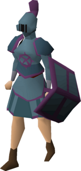 Ancient rune armour set (sk) equipped