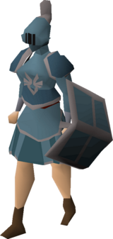 Armadyl rune armour set (sk) equipped