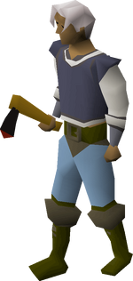 Black axe equipped